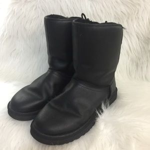 Ugg Leather Boots with Laced Zip Back